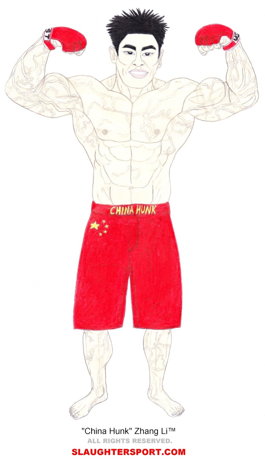 CHINA HUNK Zhang Li - Chinese UST Combatant SLAUGHTERSPORT.COM