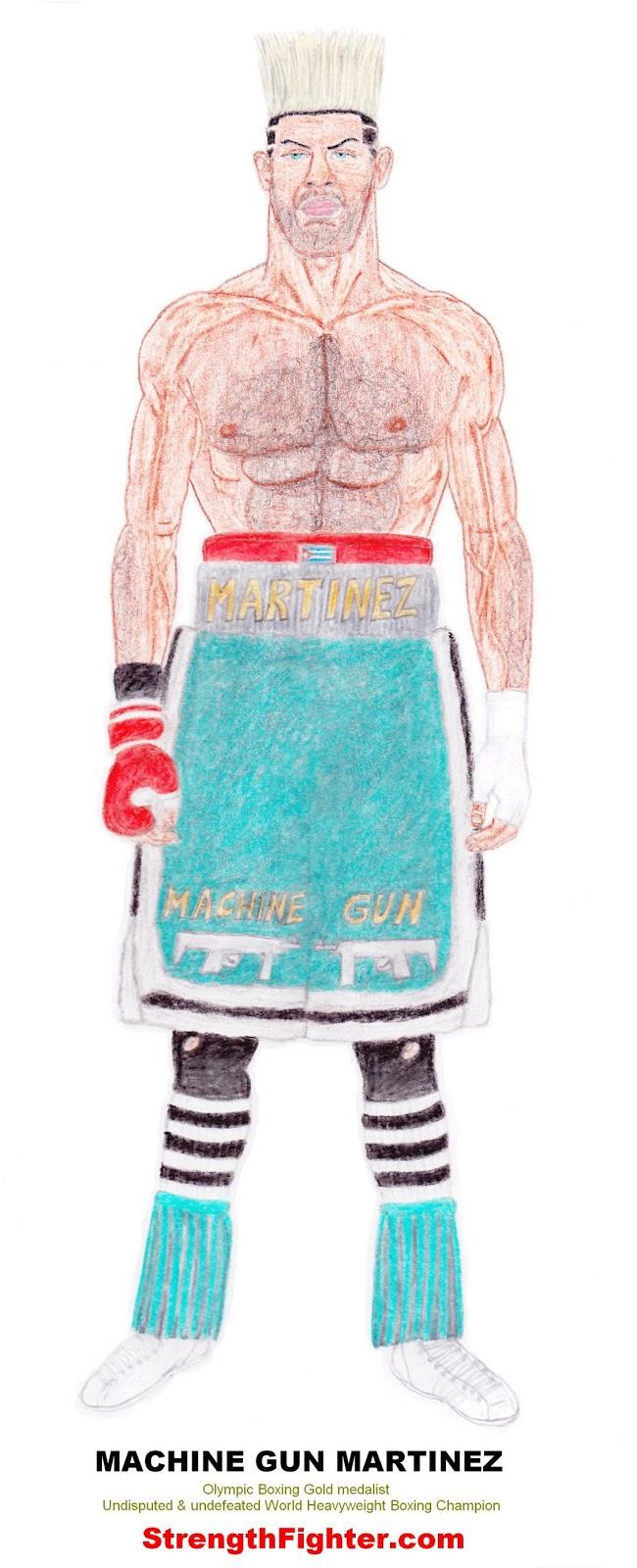 Machine Gun Martinez (Boxing) SLAUGHTERSPORT.COM