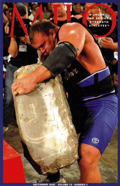Derek Poundstone loading the 517-pound Louis Cyr stone StrengthFighter.com