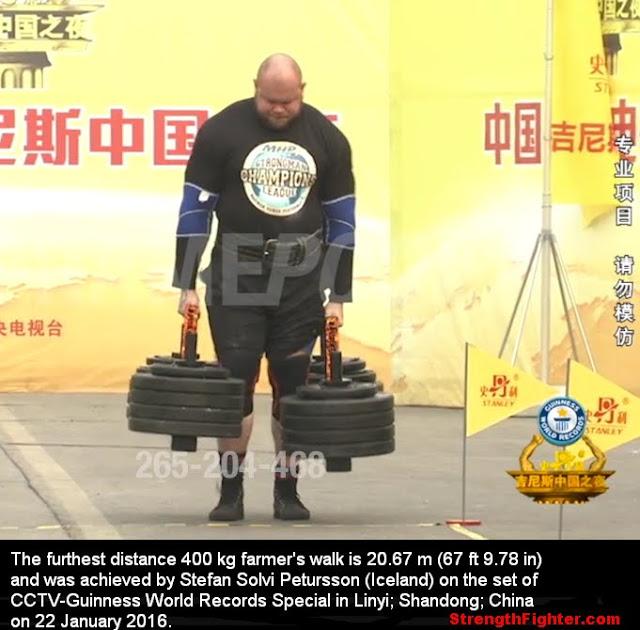 Heaviest Farmer's Walk World Record StrengthFighter.com